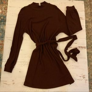 Top shop ribbed sweater dress With Tie belt 6
